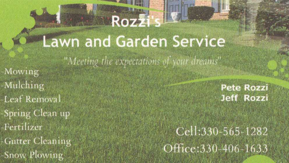 Rozzi 39 s lawn and garden service for Lawn and garden services